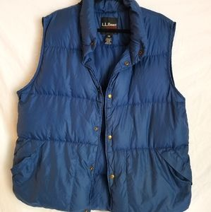 L.L.Bean down puffy vest large tall vintage